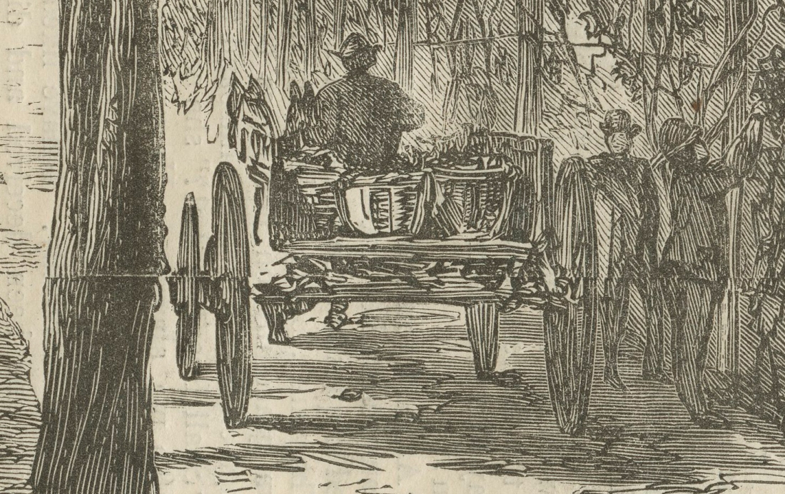 Harpers detail man in cart