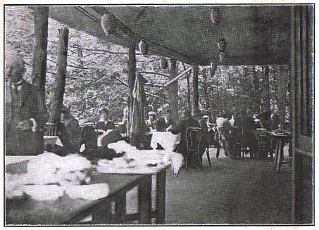 The porch of the Nikko Inn.