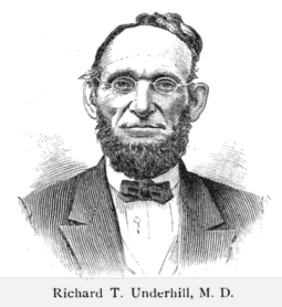 Portrait of Richard T. Underhill from The Most Notable Robbery of Modern Times by Stephens O. Jennings, 1890.