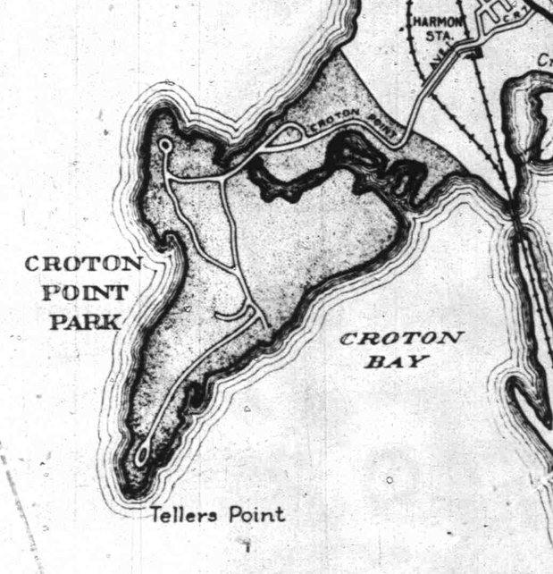 Census Map 1935 Croton Point Detail