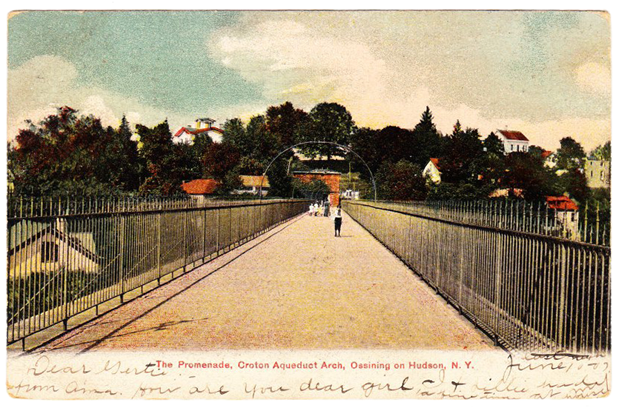 This post card, postmarked June 11, 1907, was published by William Terhune, Ossining on Hudson.
