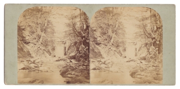"Rare non-commercial stereoview, inscribed by hand on the back ""View on the Kill at Sing Sing."""