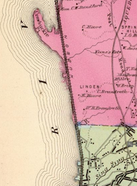 The Hudson River Railroad, north from Sing Sing in 1868 from F.W. Beers' Atlas of New York and vicinity ...