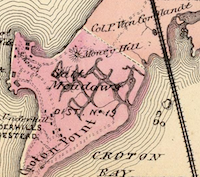 The Hudson River Railroad, crossing the mouth of the Croton River and Croton Point in 1868, from F.W. Beers' Atlas of New York and vicinity ...