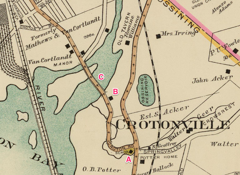 Detail from map 12 of E. Belcher Hyde's 1908 Atlas of the rural country district north of New York City . . . Courtesy of the David Rumsey Map Collection.