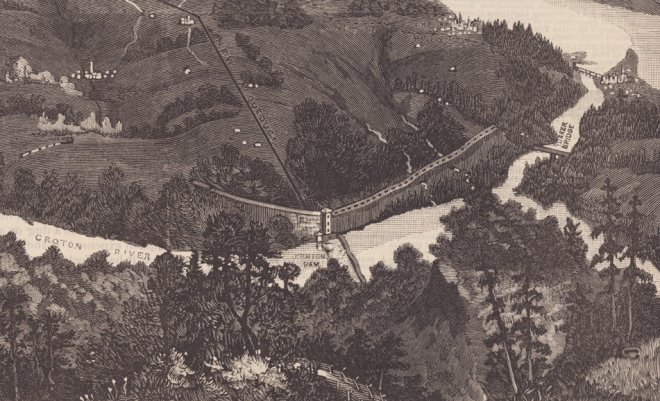 Detail of the area from the Old Croton Dam to the Hudson River. Scientific American, 1887. Click to enlarge.