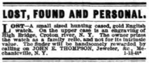 Ad from the Troy Daily Times, January 17, 1883.