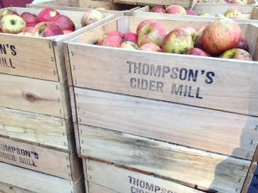 Fifty percent of the apples used are grown at Thompson's, the rest come from other local orchards.