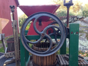 One of the antique cider presses (also called mills) on display.