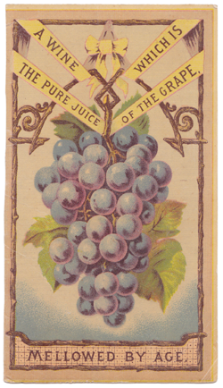 A trade card for the Underhill vineyards.