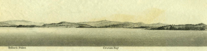 Detail from View of Haverstraw Bay, from off Scarborough. Click the image to enlarge it.