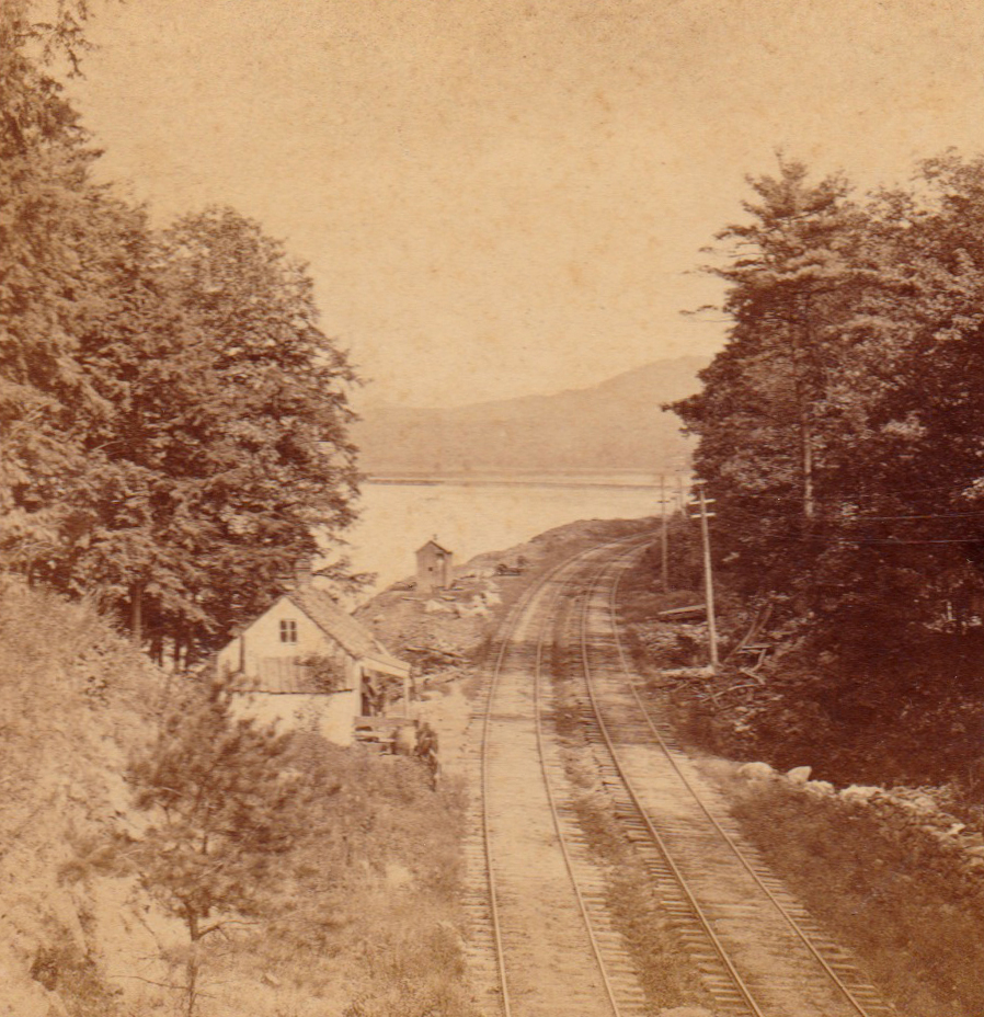 View from the Tunnel near Garrisons. Hudson River. From the stereoview published by E. & H. T. Anthony & Co.
