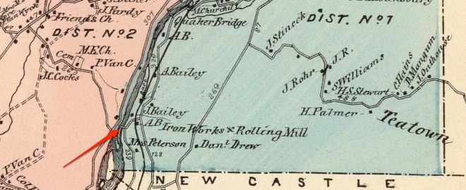 The location of High Bridge on a map published in 1868. Click the image to enlarge it.