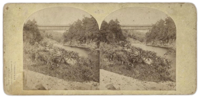 Wooden Tubular Bridge Over Croton River, published by the London Stereoscopic Company. Courtesy of the New York Public Library.