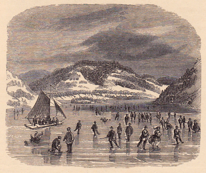 Skaters on Peek's Kill Bay