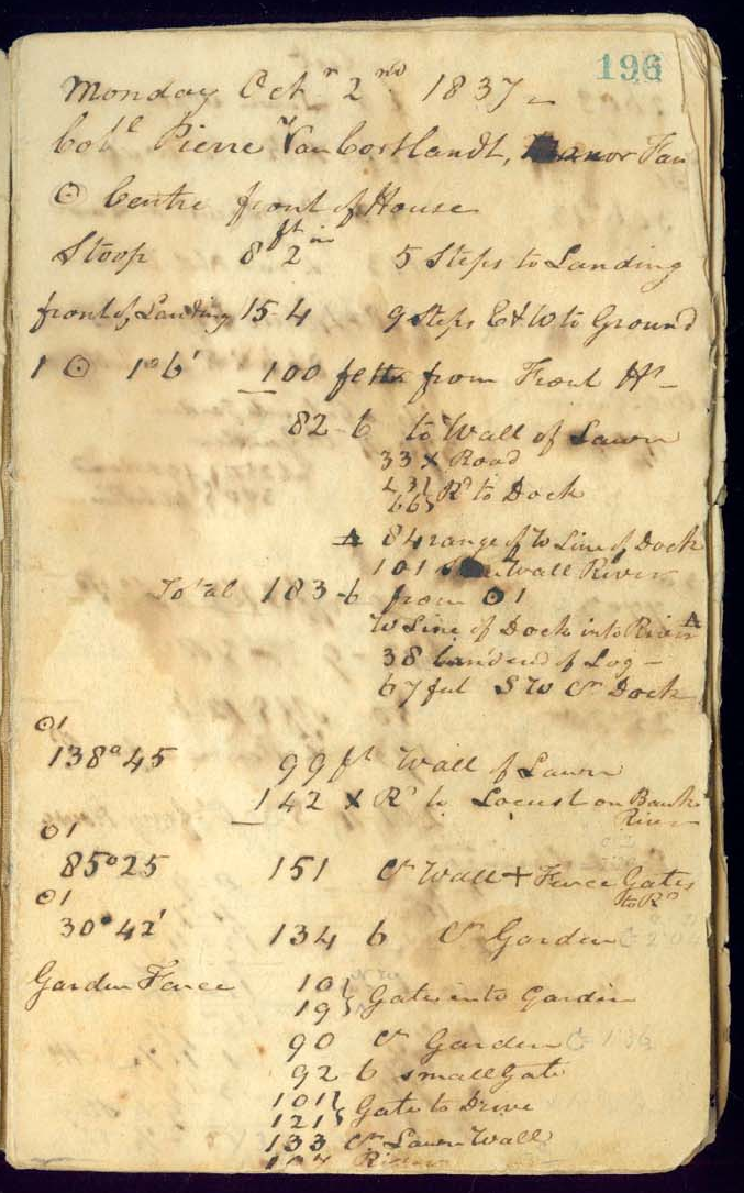 The first page of Cartwright's notebook.