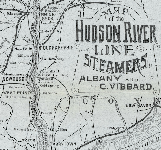 Map of the Hudson River Line Steamers, 1883 – CROTON