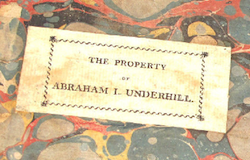 Bookplate from the Underhill Bible.