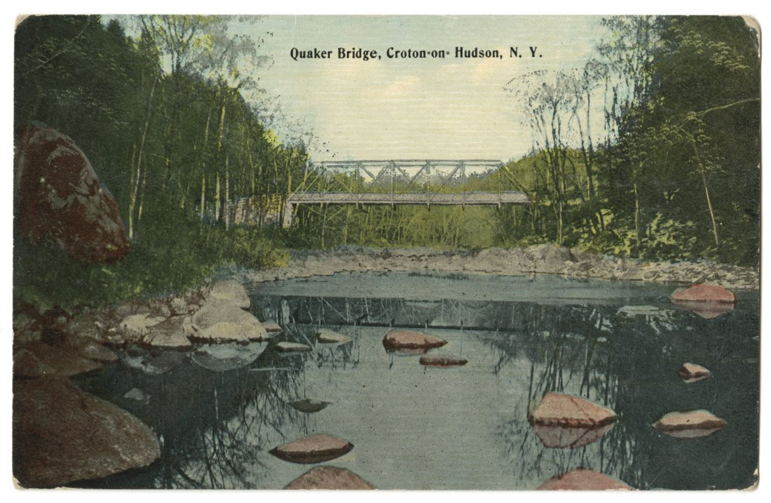 Postcard of Quaker Bridge. Click the image to enlarge it.