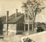 Rare photo of the schoolhouse, built along Quaker Ridge Road near the intersection with Quaker Bridge Road.