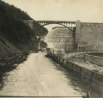 The New Croton Dam, spring 1910.