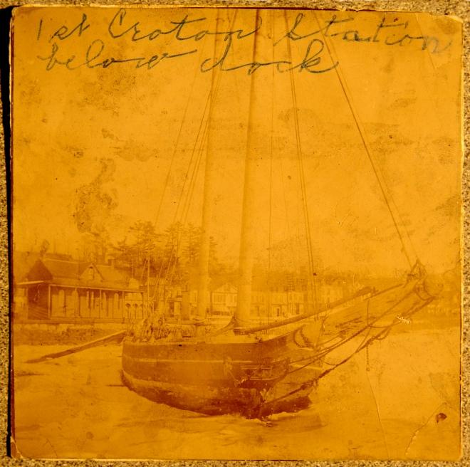 Croton's first train station, circa 1849-1850.