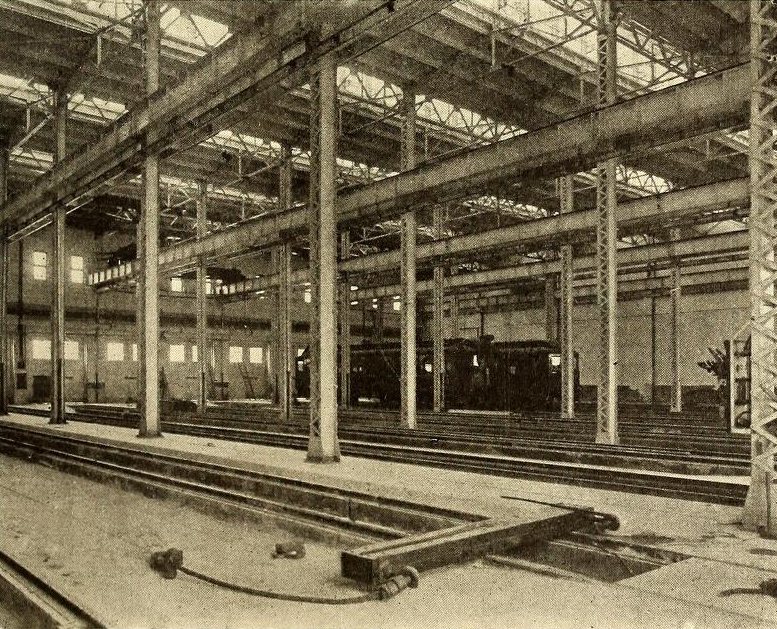 Harmon Yards car shop, 1907.