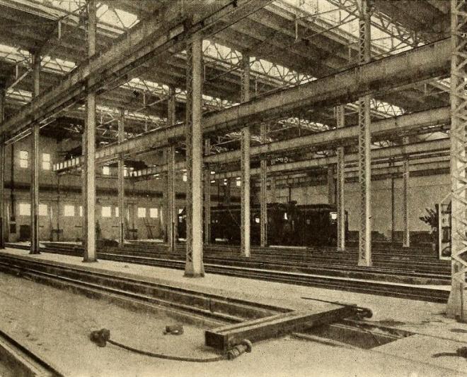 Harmon Yards car shop, 1907.