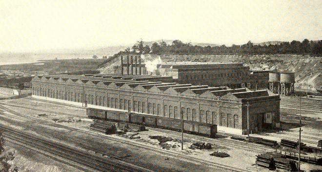 Harmon Shops looking southeast, 1914.