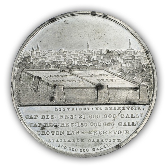 Croton Water Celebration medal by Robert Lovett, Sr. Courtesy of John Kraljevich Americana.