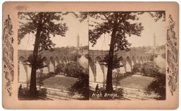 High Bridge, New York. Stereoview from Robert N. Dennis collection, New York Public Library.