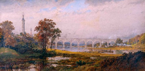 High Bridge, New York by Jasper F. Cropsey, circa 1879. Marsh-Billings-Rockefeller National Historical Park.