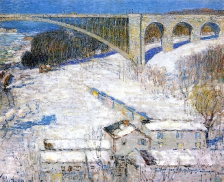 High Bridge by Childe Hassam, 1922. Santa Barbara Museum of Art.