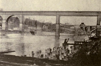 "The ""economical, but ugly"" plan for replacing the piers in the Harlem River. The American Architect, January 21, 1921."