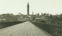 Looking west across High Bridge, 1923. Eugene L. Armbruster photograph collection, New-York Historical Society,