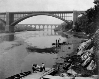 High Bridge and Washington Bridge, Harlem River, N.Y.C., looking south by William Henry Jackson, circa 1890. Detroit Publishing Company Photograph Collection, Library of Congress.