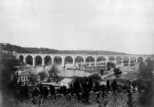 High Bridge, circa 1861. Gelatin silver print. New-York Historical Society. See the Valentine's Manual lithograph print of this same image.