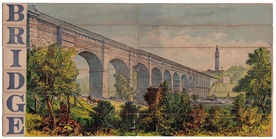 High Bridge puzzle, published by E. G. Selchow & Co., circa 1867-1880