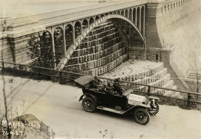 New Croton Dam, May 13, 1913. Courtesy of the Detroit Public Library, National Automotive History Collection.