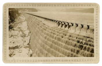 New Croton Dam spillway, February, 1934. Click the image to enlarge it.