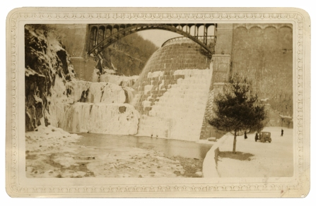 New Croton Dam, February, 1934. Click the image to enlarge it.