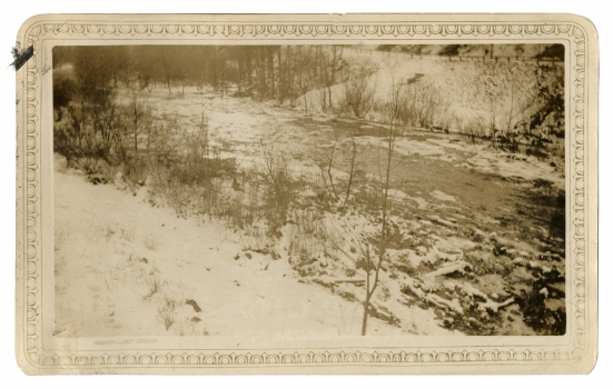 Croton River below the dam, February, 1934.