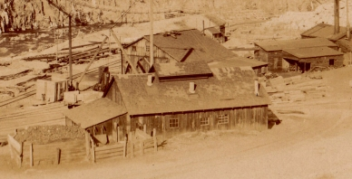 Detail showing the machine shops