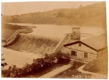 A nice view of the Old Croton Dam and gatehouse, several miles upriver from the New Croton Dam