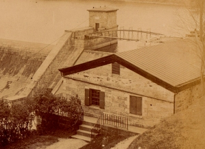 Detail showing the Old Croton Dam gatehouse