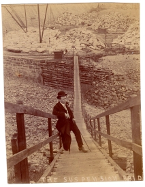 John Fish on the suspension bridge
